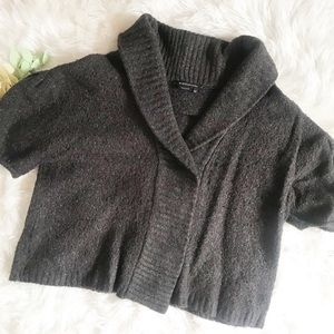 BCBGMaxAzria Short Sleeved Brown Cardigan Sweater